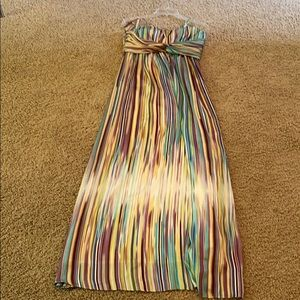 Jessica Simpson silk maxi with or without straps